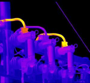 Неоднородность нагрева маслонаполненных вводов трансформаторов